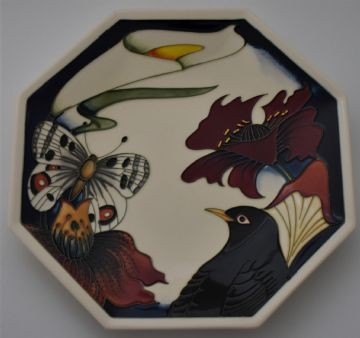 Moorcroft Pottery Design Studio Medley Plate Signed By Designers